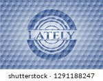 lately blue emblem with... | Shutterstock .eps vector #1291188247