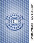 bus blue emblem with geometric... | Shutterstock .eps vector #1291188304