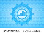 chart icon inside water wave... | Shutterstock .eps vector #1291188331