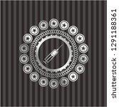 syringe icon inside silver... | Shutterstock .eps vector #1291188361