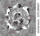 accurate grey camo emblem | Shutterstock .eps vector #1291188367