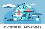 logistics vector illustration.... | Shutterstock .eps vector #1291192651