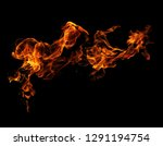 fire flames black background | Shutterstock . vector #1291194754