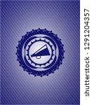 megaphone icon inside badge... | Shutterstock .eps vector #1291204357