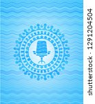 office chair icon inside water... | Shutterstock .eps vector #1291204504