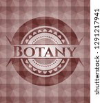 botany red emblem with... | Shutterstock .eps vector #1291217941
