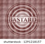 bastard red seamless badge with ... | Shutterstock .eps vector #1291218157