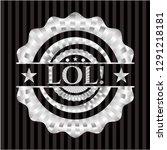 lol  silvery shiny badge   Shutterstock .eps vector #1291218181
