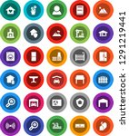white solid icon set  pool... | Shutterstock .eps vector #1291219441