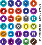 white solid icon set  scraper... | Shutterstock .eps vector #1291219501