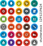 white solid icon set  graph... | Shutterstock .eps vector #1291219624