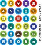 white solid icon set  washer... | Shutterstock .eps vector #1291219654