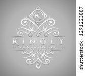letter k logo   classic  ... | Shutterstock .eps vector #1291223887