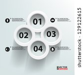eps10 vector abstract 3d... | Shutterstock .eps vector #129122615