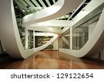 modern new interior  empty room ... | Shutterstock . vector #129122654
