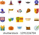 color flat icon set  ... | Shutterstock .eps vector #1291226704