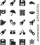 solid black vector icon set  ...   Shutterstock .eps vector #1291232761