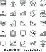 thin line icon set   growth... | Shutterstock .eps vector #1291242604