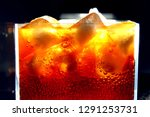 close up of carbonated drink  ... | Shutterstock . vector #1291253731