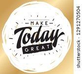 inspirational quote  motivation.... | Shutterstock .eps vector #1291270504