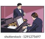 stock illustration. piano...   Shutterstock .eps vector #1291275697