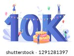 thanks for the first 10000... | Shutterstock .eps vector #1291281397