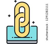 vector line icon of link... | Shutterstock .eps vector #1291282111