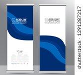 roll up business brochure flyer ... | Shutterstock .eps vector #1291287217