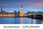 london skyline with big ben and ... | Shutterstock . vector #1291294354