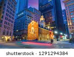 boston old state house buiding... | Shutterstock . vector #1291294384