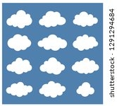 clouds collection cloud shapes... | Shutterstock .eps vector #1291294684