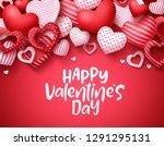 valentines day vector... | Shutterstock .eps vector #1291295131