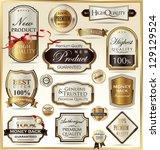 luxury golden labels | Shutterstock .eps vector #129129524