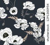 seamless pattern with  poppy... | Shutterstock .eps vector #1291300954