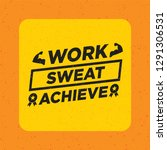 work   sweat   archieve.... | Shutterstock .eps vector #1291306531