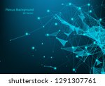 abstract connecting dots and...   Shutterstock .eps vector #1291307761