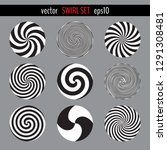 vector swirl set. various... | Shutterstock .eps vector #1291308481