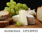 food products   cheese  bread... | Shutterstock . vector #129130925