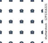 barn icon pattern seamless... | Shutterstock .eps vector #1291316221