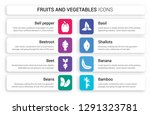 set of 8 white fruits and... | Shutterstock .eps vector #1291323781