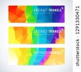 vector design template set of... | Shutterstock .eps vector #1291330471