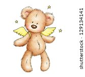 teddy bear with wings and stars ...