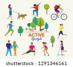vector stylized illustration of ... | Shutterstock .eps vector #1291346161