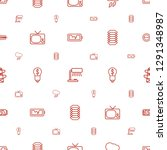 electric icons pattern seamless ... | Shutterstock .eps vector #1291348987