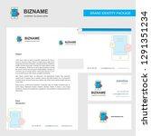 smartphone business letterhead  ... | Shutterstock .eps vector #1291351234