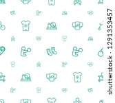 newborn icons pattern seamless... | Shutterstock .eps vector #1291353457