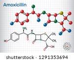 amoxicillin drug molecule. it...