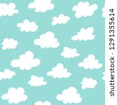 clouds on a blue background... | Shutterstock .eps vector #1291355614