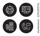 4 linear vector icon set  ...   Shutterstock .eps vector #1291355731