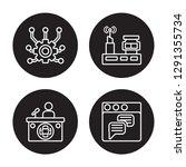 4 linear vector icon set  ... | Shutterstock .eps vector #1291355734